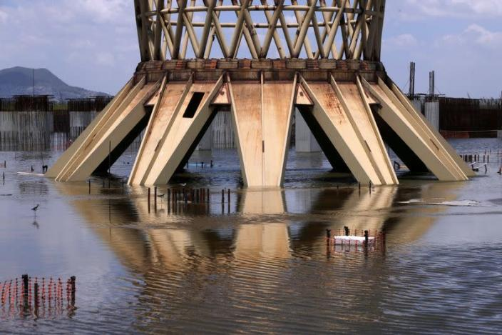 FILE PHOTO: Flooding, birds, trees: Mexico City's Texcoco lake reclaims scrapped airport