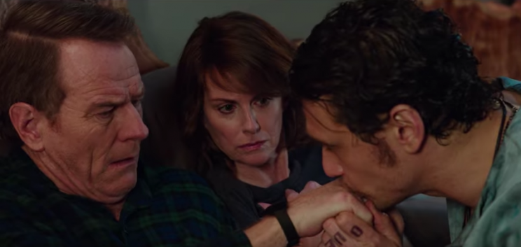Bryan Cranston, Megan Mullally, and James Franco in 'Why Him?' (Fox)