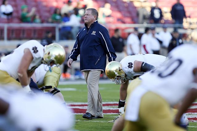 Brian Kelly is open to continuing to play Michigan and Michigan State