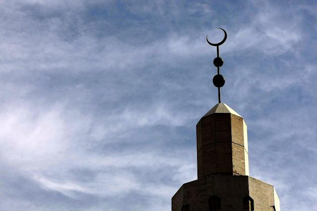 <p>FALLS CHURCH, VIRGINIA, UNITED STATES OF AMERICA:  The Dar Al-Hijrah Islamic Center in Falls Church, Virginia was one of the first mosques to be established in the region.</p>