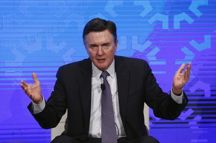 Dennis Lockhart of the Atlanta Fed takes part in a panel convened to speak about the health of the U.S. economy in New York