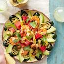 "<p>A fresh take on the typical Mexican dish, this recipe is the perfect healthier alternative to have on your next taco Tuesday. <br></p><p><em><a href=""https://www.womansday.com/food-recipes/food-drinks/recipes/a39492/shrimp-taco-salad-recipe-ghk0613/"" rel=""nofollow noopener"" target=""_blank"" data-ylk=""slk:Get the Shrimp Taco Salad recipe."" class=""link rapid-noclick-resp""><strong>Get the Shrimp Taco Salad recipe.</strong></a></em></p>"
