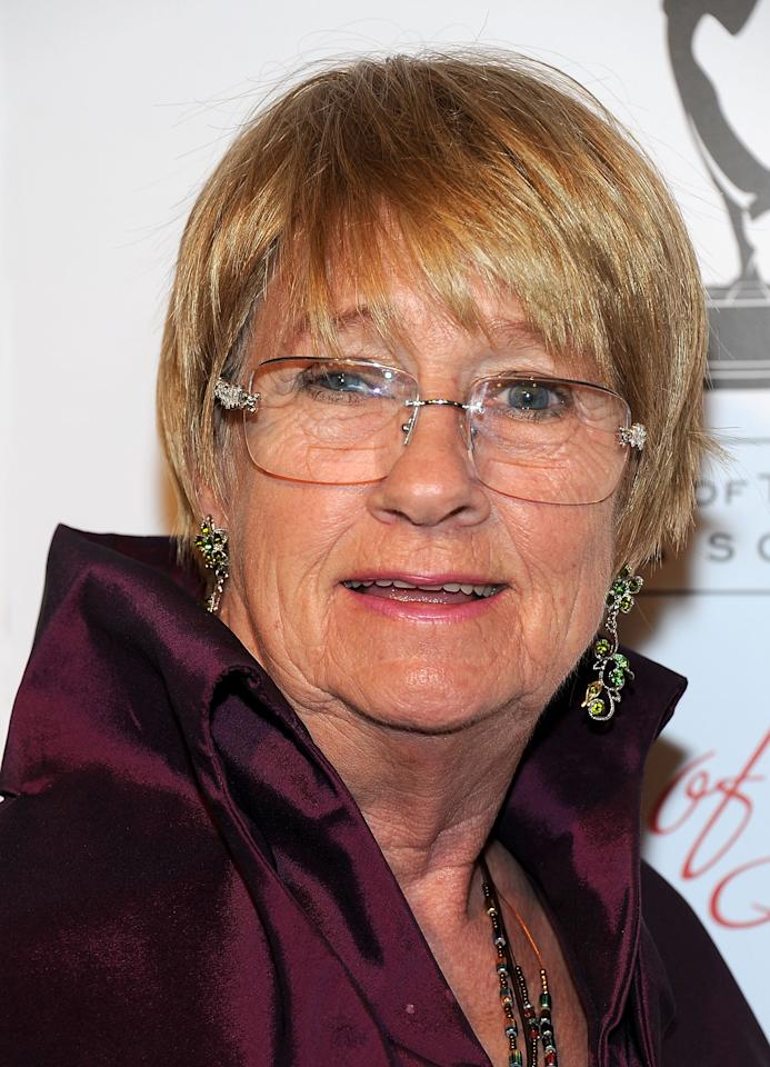 BEVERLY HILLS, CA - MARCH 01:  Kathryn Joosten arrives at The Academy Of Television Arts & Sciences' 21st Annual Hall Of Fame Gala  at Beverly Hills Hotel on March 1, 2012 in Beverly Hills, California. Joosten has died of lung cancer at age 72 on Saturday June 2, 2012.  (Photo by Valerie Macon/Getty Images)