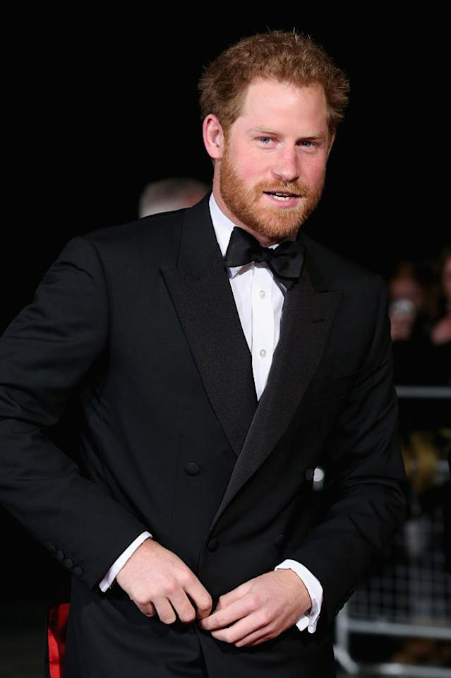 <p>Donning black tie like he's doing it a favour.</p>