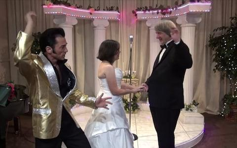 David and Louise Turpin renew their vows at Elvis chapel in Las Vegas on their 30th anniversary, on October 31, 2015 - Credit: Elvis Chapel/YouTube