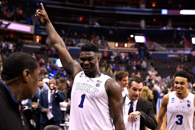 Few No. 1 picks come with as much hype as Duke freshman Zion Williamson. (Getty Images)