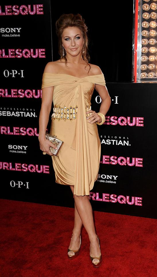 "<a href=""http://movies.yahoo.com/movie/contributor/1809860021"">Julianne Hough</a> at the Los Angeles premiere of <a href=""http://movies.yahoo.com/movie/1810125282/info"">Burlesque</a> on November 15, 2010."