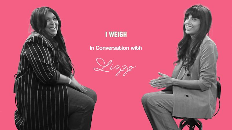 """Minneapolis-born rapper Lizzo sat down with body positive activist Jameela Jamil for her next episode of """"I Weigh Interviews."""" (Credit: I Weigh)"""