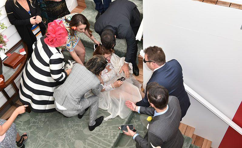 Australia's richest woman Gina Rinehart suffered a fall at the track. Source: AAP