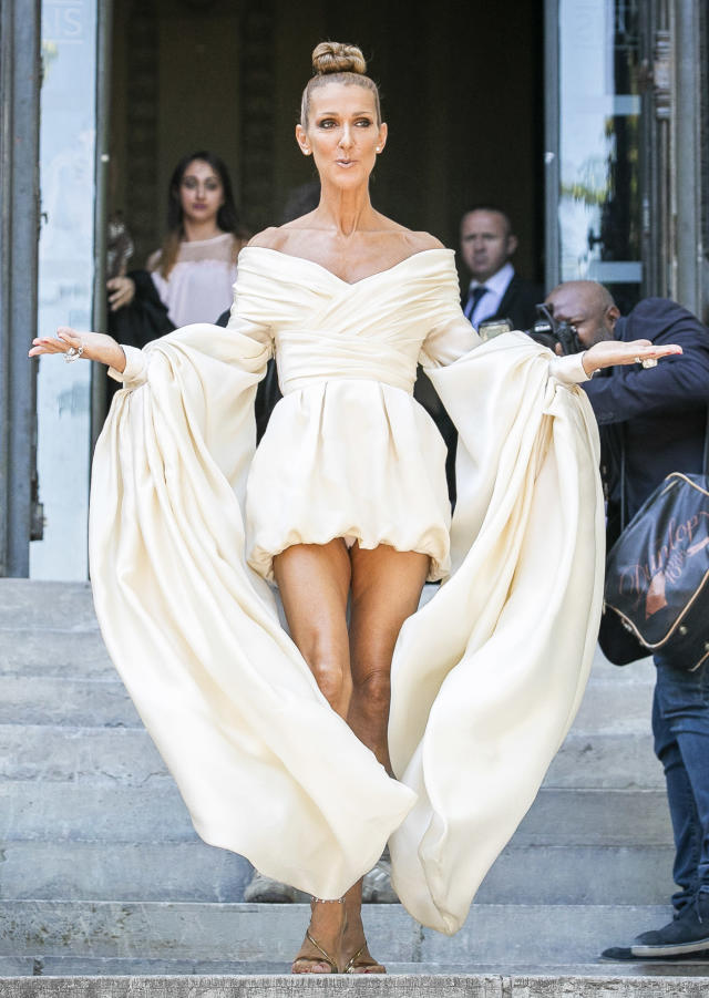 a2be66ddd Celine Dion was the center of attention when she stepped out of the  Alexandre Vauthier fashion