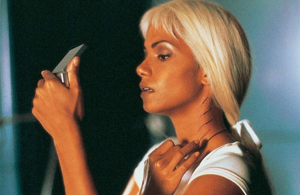 Halle Berry as Storm in a still from <i>X-Men</i>. (2000)