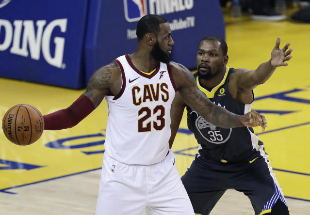 LeBron James praises Kevin Durant while throwing shade at the Trail Blazers