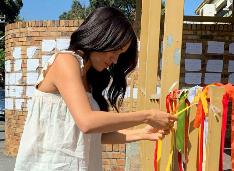 Meghan Markle visits memorial to murdered South African teen