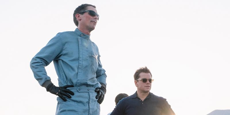 Christian Bale and Matt Damon in 'Ford v. Ferrari' (Photo: 20th Century Fox/Courtesy TIFF)