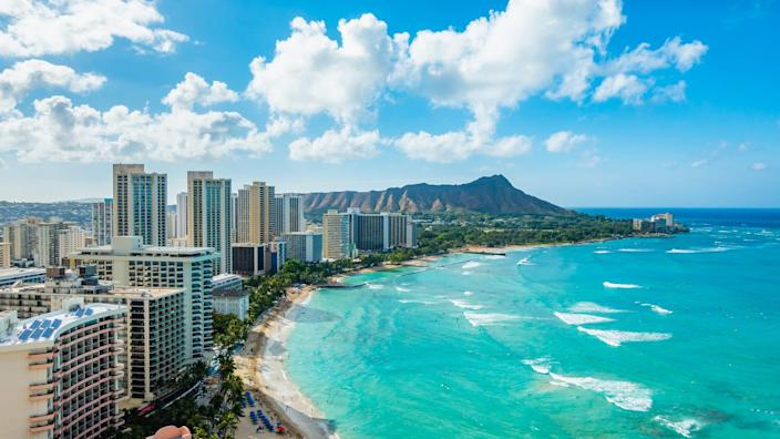 Hawaii's Waikiki Beach is the first destination on the mind of San Francisco resident Sandy Hill.