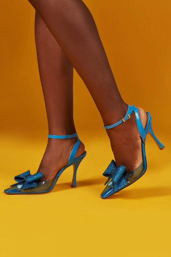 Heel with bow detail from Nalebe's spring summer '22 collection. - Credit: Courtesy of Nalebe