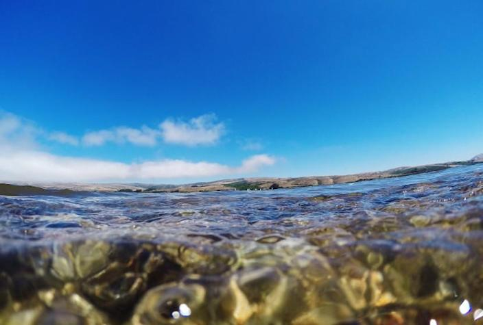 POINT REYES NATIONAL SEASHORE, CA - JULY 20, 2016: Clear water and deep blue sky at Tomales Bay on July 20, 2016 in Point Reyes National Seashore, California. (Gina Ferazzi / Los Angeles Times)