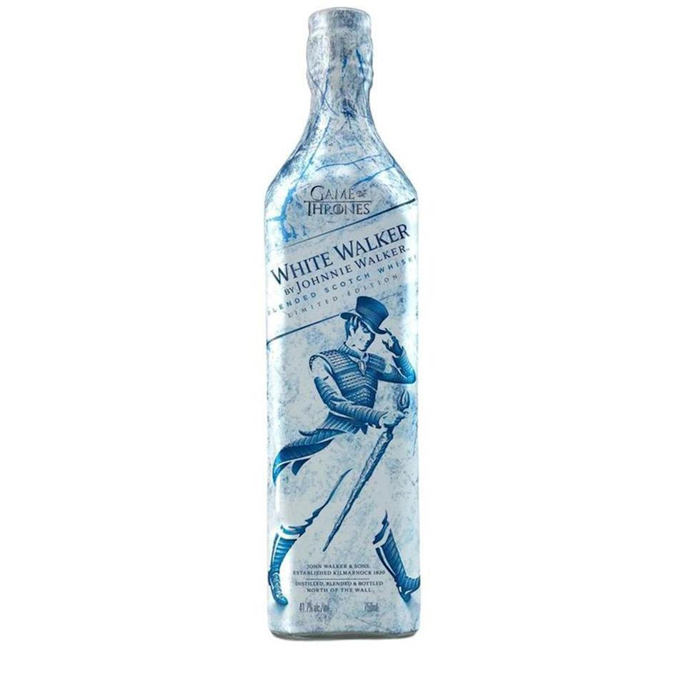"""<p>If he's as excited for the <em>Game of Thrones</em> premiere as the rest of the world is, then this special edition Johnnie Walker White Walker scotch whiskey has his name all over it. He might even be inclined to share some.<br><strong><a rel=""""nofollow noopener"""" href=""""https://fave.co/2SYTx8Q"""" target=""""_blank"""" data-ylk=""""slk:Shop it"""" class=""""link rapid-noclick-resp"""">Shop it</a>:</strong> $65, <a rel=""""nofollow noopener"""" href=""""https://fave.co/2SYTx8Q"""" target=""""_blank"""" data-ylk=""""slk:reservebar.com"""" class=""""link rapid-noclick-resp"""">reservebar.com</a> </p>"""