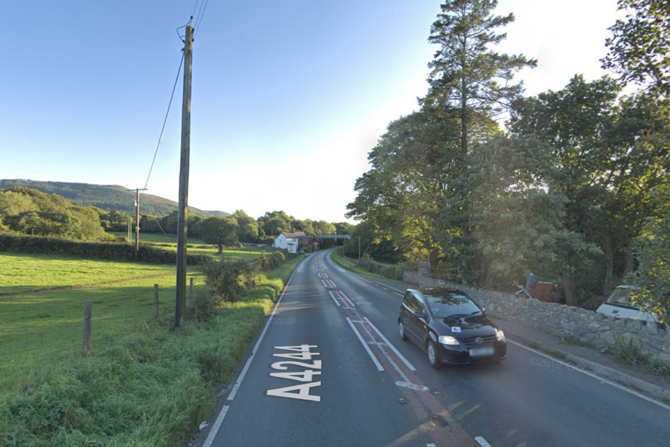 The road where Rowan Jones died in a single vehicle incident. (Google)