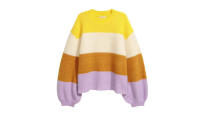 """<p>The colder weather's set to last a while longer. Brighten up your days with this colourful, striped knit. <a rel=""""nofollow noopener"""" href=""""http://hm.com"""" target=""""_blank"""" data-ylk=""""slk:Buy here."""" class=""""link rapid-noclick-resp""""><em>Buy here.</em></a> </p>"""