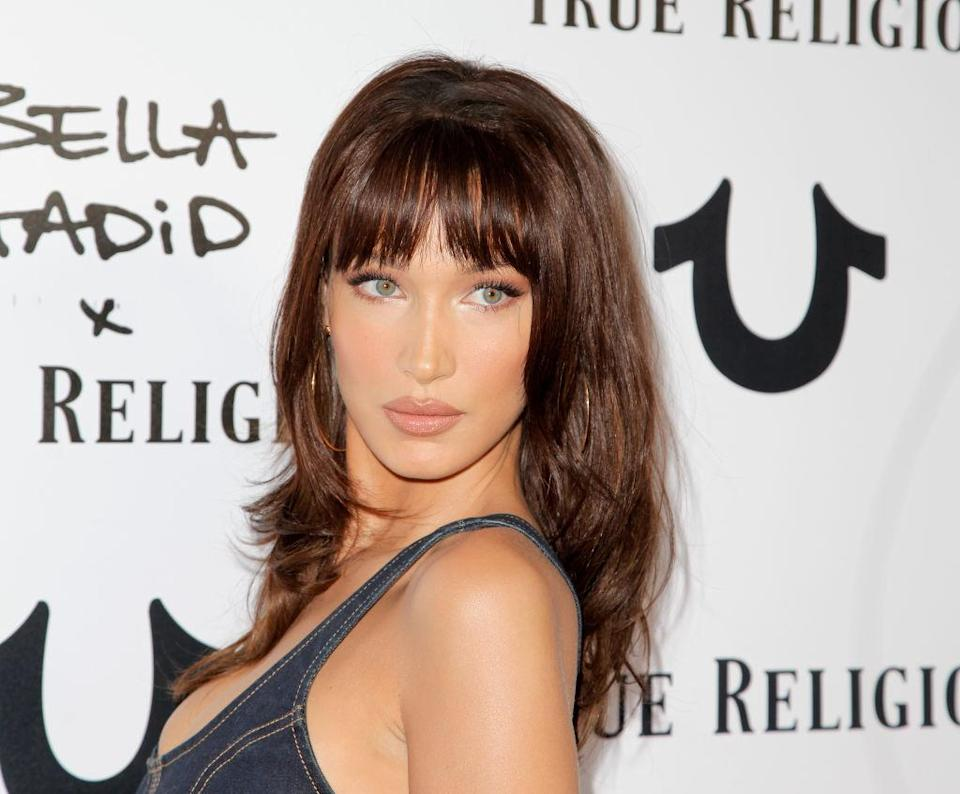Bella Hadid at the Bella Hadid x True Religion event at Poppy on Oct. 18 in Los Angeles. (Photo: Tibrina Hobson/Getty Images)