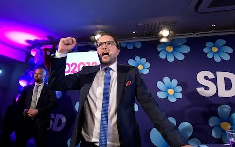 Sweden Democrats party leader Jimmie Akesson - Credit: Anders Wiklund/TT News Agency