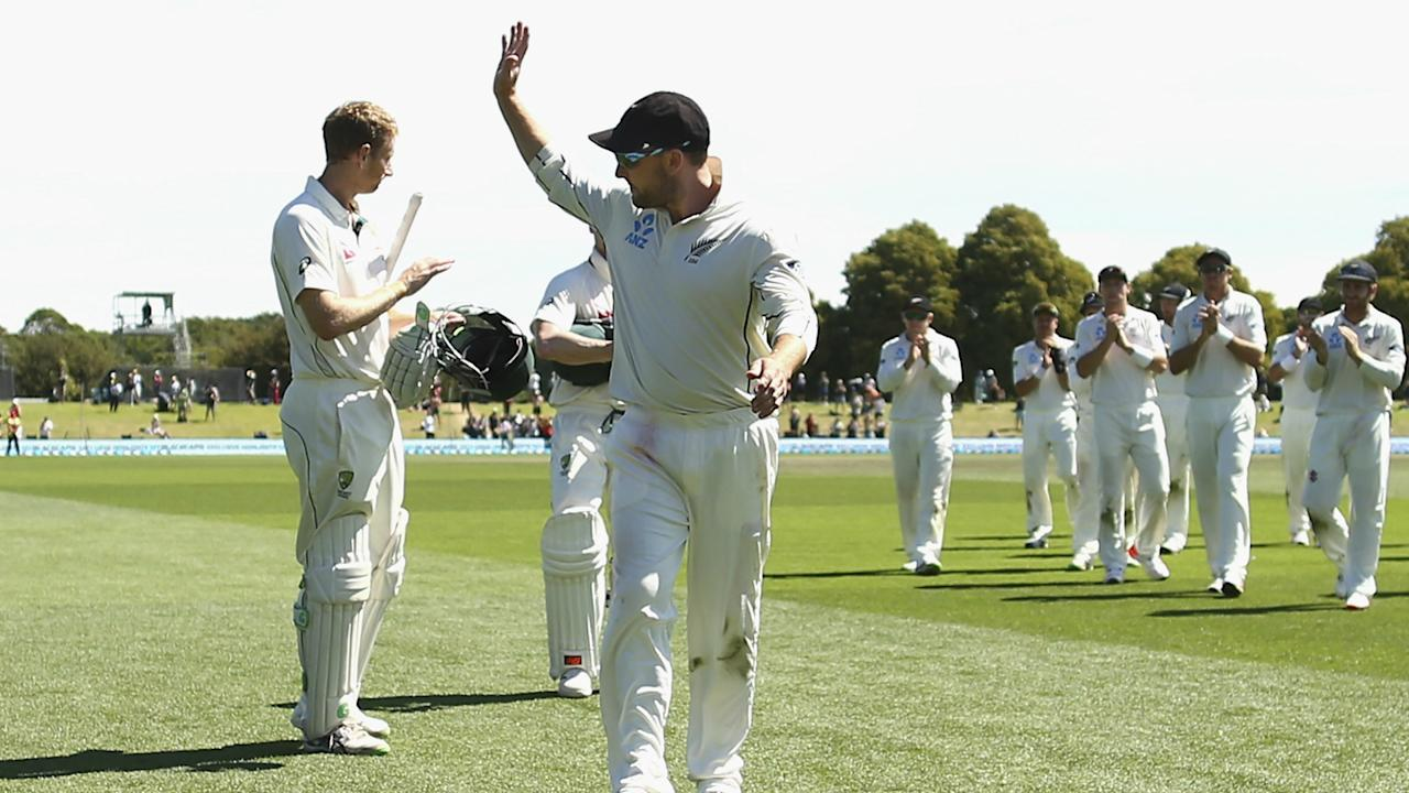 Brendon McCullum's 101st and final Test resulted in a seven-wicket loss to trans-Tasman rivals Australia in Christchurch.