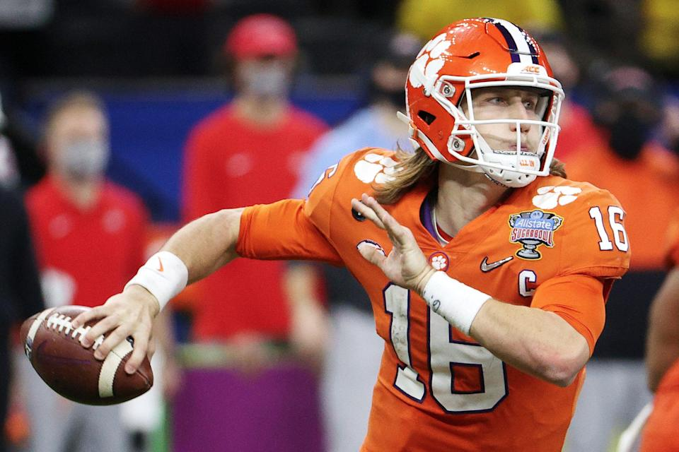 Clemson quarterback Trevor Lawrence is set to be the first overall pick in the 2021 NFL DraftGetty Images