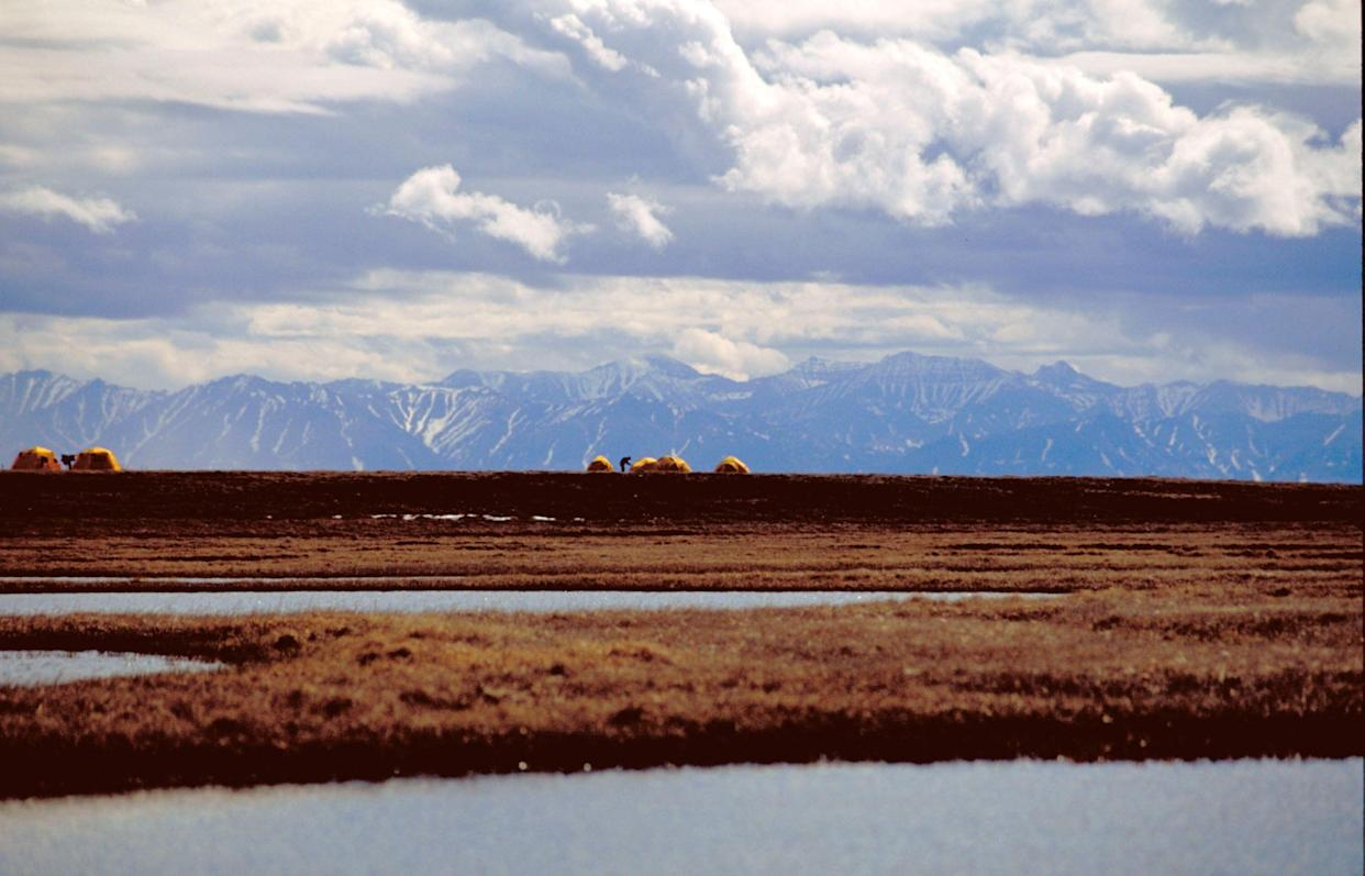 A bird research camp is pictured in Alaska's Arctic National Wildlife Refuge. (Photo: Ho New / Reuters)