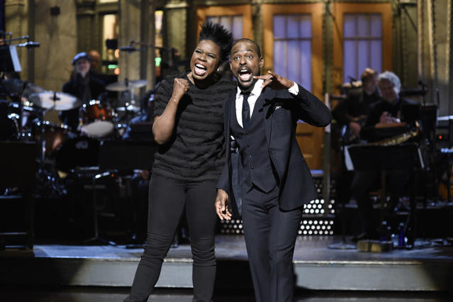<p>The <em>This is Us</em> star got the chance to live out his dream hosting<em> Saturday Night Live</em> this past weekend, complete with a monolouge crashed by regular cast member Leslie Jones. (Photo: Will Heath/NBC/NBCU Photo Bank via Getty Images) </p>