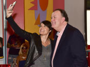 Leanna Creel and Dennis Haskins at Saved by the Max pop-up (Rodin Eckenroth / Getty Images)