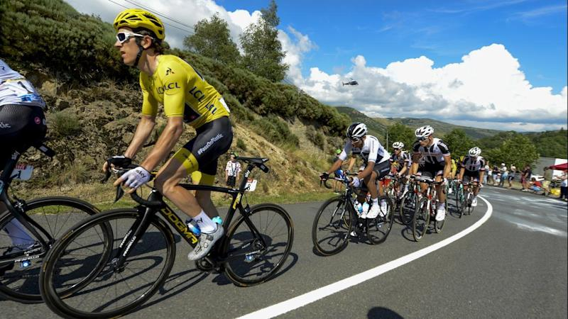 Geraint Thomas is not feeling any added pressure wearing the Tour de France leader's yellow jersey