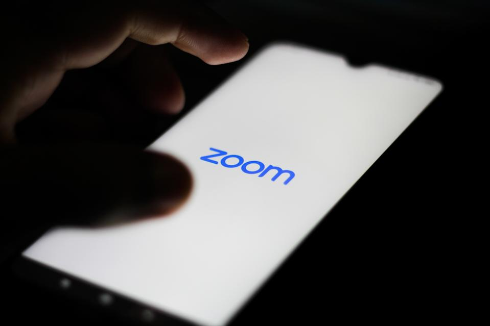 BRAZIL - 2020/05/25: In this photo illustration a Zoom Video logo seen displayed on a smartphone. (Photo Illustration by Rafael Henrique/SOPA Images/LightRocket via Getty Images)