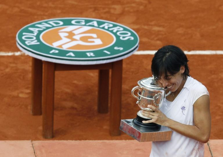 Champion: Italy's Francesca Schiavone with the 2010 Roland Garros trophy