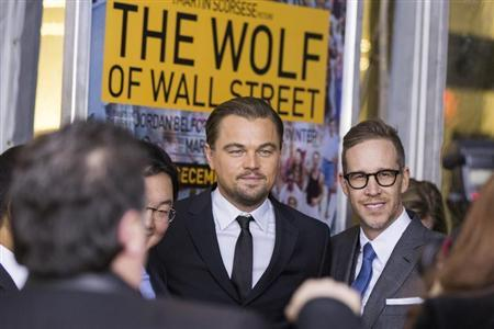 "Cast member Leonardo DiCaprio arrives for the premiere of the film adaptation ""The Wolf of Wall Street"" in New York December 17, 2013. REUTERS/Lucas Jackson"