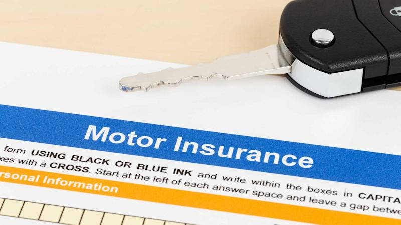 Motor or car insurance application with car key