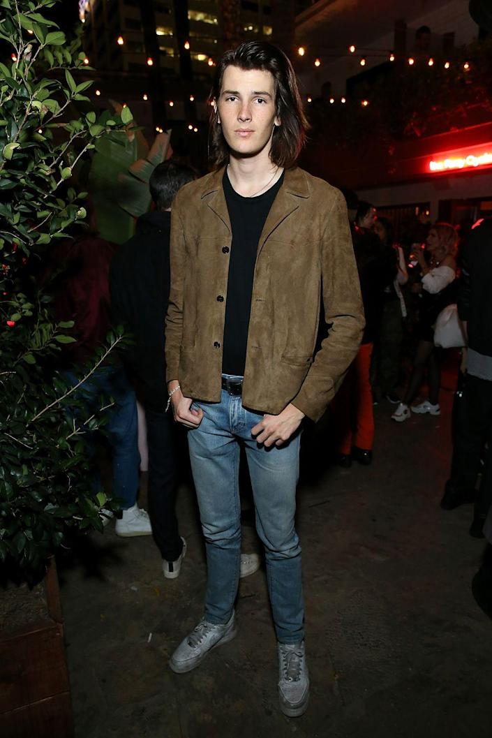 "<p>The 23-year-old model is now a towering 6'4"" on the runway. He is signed with IMG models and served as the Golden Globes ambassador at the 2020 Globes ceremony. </p>"
