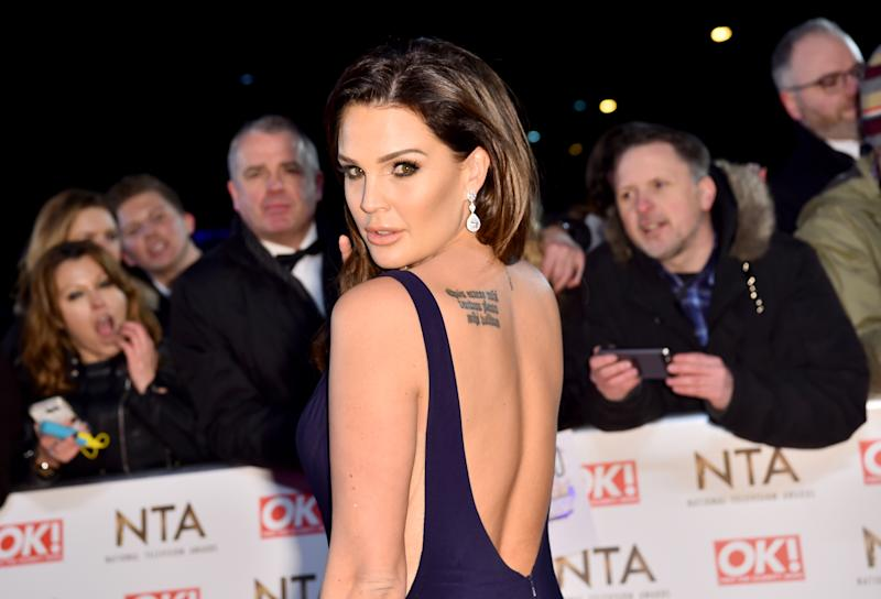 Danielle Lloyd attending the National Television Awards 2017 at the O2, London. PRESS ASSOCIATION Photo. Picture date: Wednesday January 25, 2017. See PA story SHOWBIZ NTAs. Photo credit should read: Matt Crossick/PA Wire