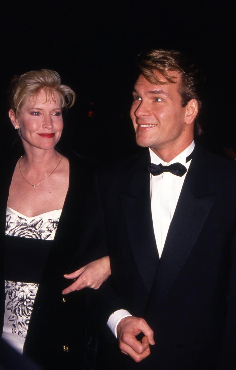 patrick swayze with his wife in the 90s, biggest male icon