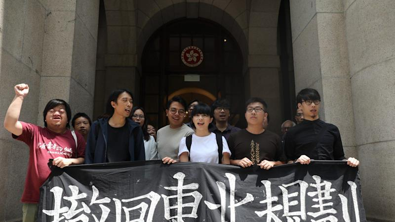 Pro-democracy activists freed by Hong Kong's highest court on grounds they suffered a grave injustice after jailing for 'extremely violent' protest