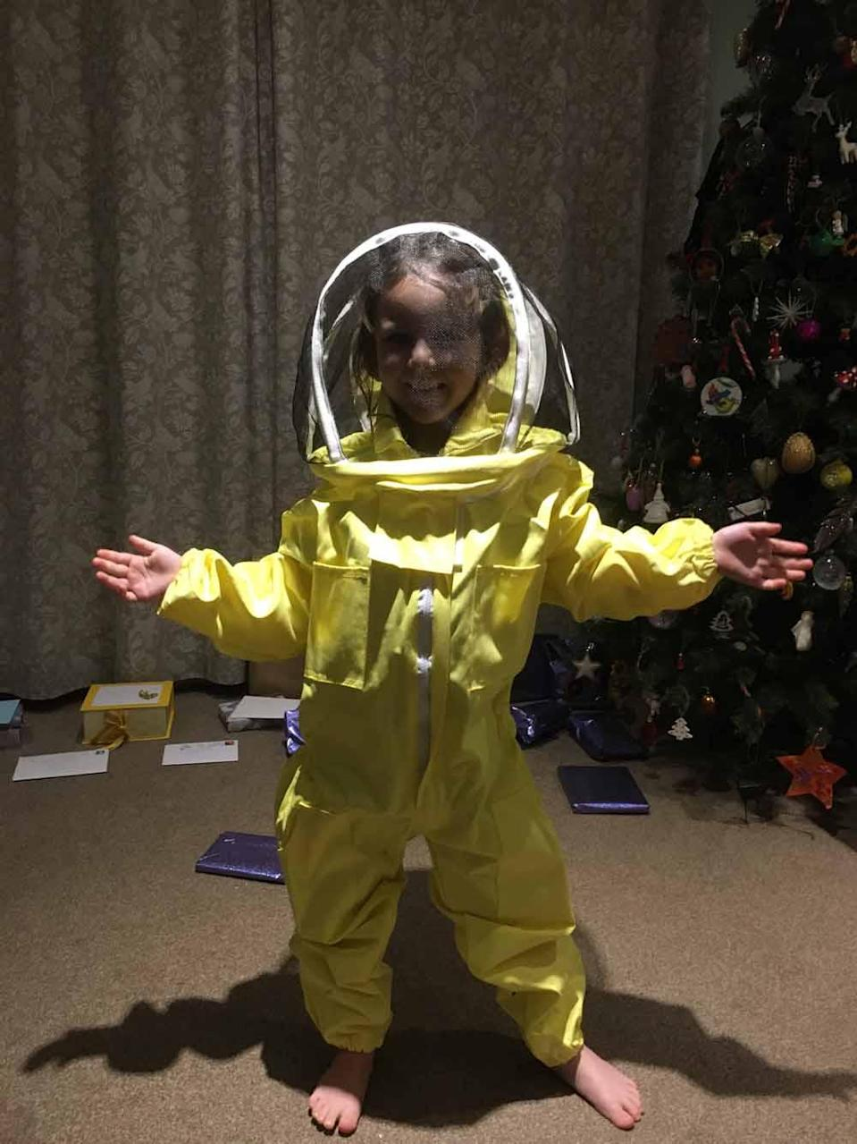 Sally bought Chloe a yellow bee suit for Christmas 2019 (Collect / PA Real Life).