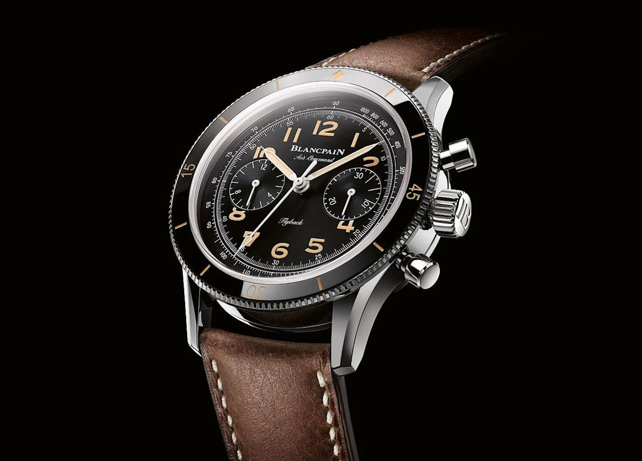 "<p>Air Command Chronograph Flyback Limited Edition</p><p><a class=""body-btn-link"" href=""https://www.watches-of-switzerland.co.uk/c/Brands/Blancpain/filter/Page_1/Psize_96/Recipient_For-Him/Show_Page/Sort_relevance/"" target=""_blank"">SHOP</a></p><p>The Blancpain Air Command was originally produced in the Fifties, intended for use by the US Air Force. For this 500-piece limited edition, Switzerland's oldest watch manufacturer wanted to remain as faithful as possible to that original model – with a few concessions to modernity. To wit, the combination of an ultra-vintage look with modern materials and a modern movement.</p><p>£15,170; <a href=""https://www.blancpain.com/en"" target=""_blank"">blancpain.com</a></p>"