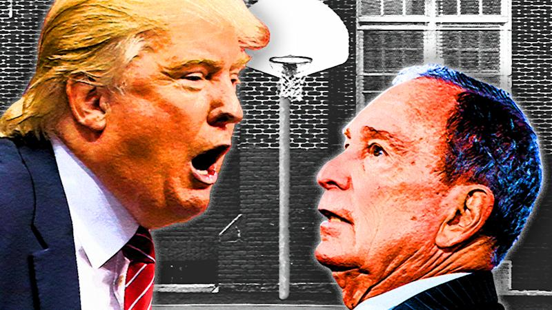 President Donald Trump and former Mayor Michael Bloomberg. (Photo illustration: Yahoo News; photos: AP, Cengiz Yar/Getty Images, Getty Images)
