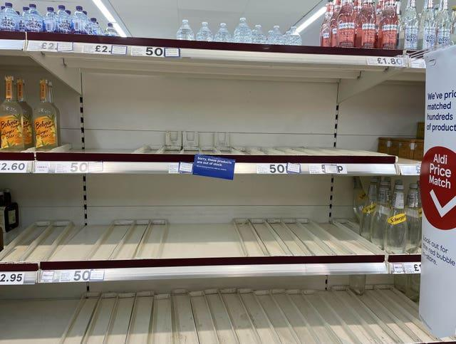 A shortage of delivery drivers has led to empty shelves in supermarkets