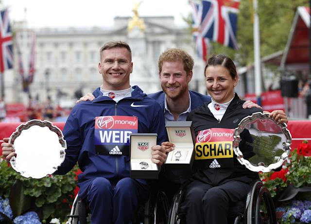 Wheelchair race winners, London Marathon 2017