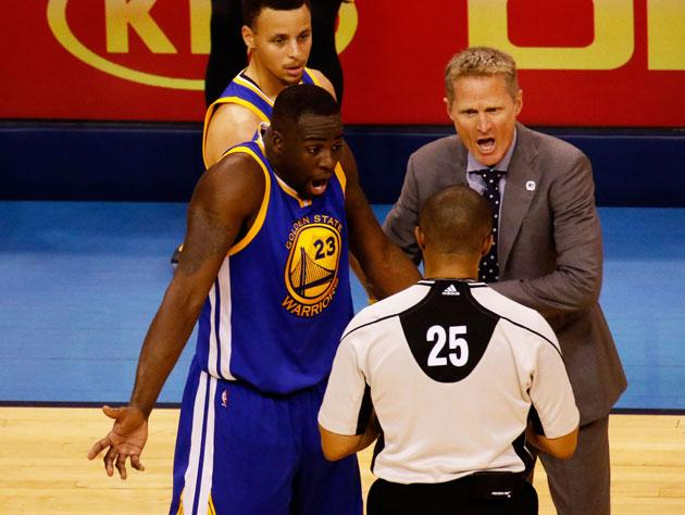 07638e88445 Draymond Green and Steve Kerr solicit an outside opinion. (Getty Images)