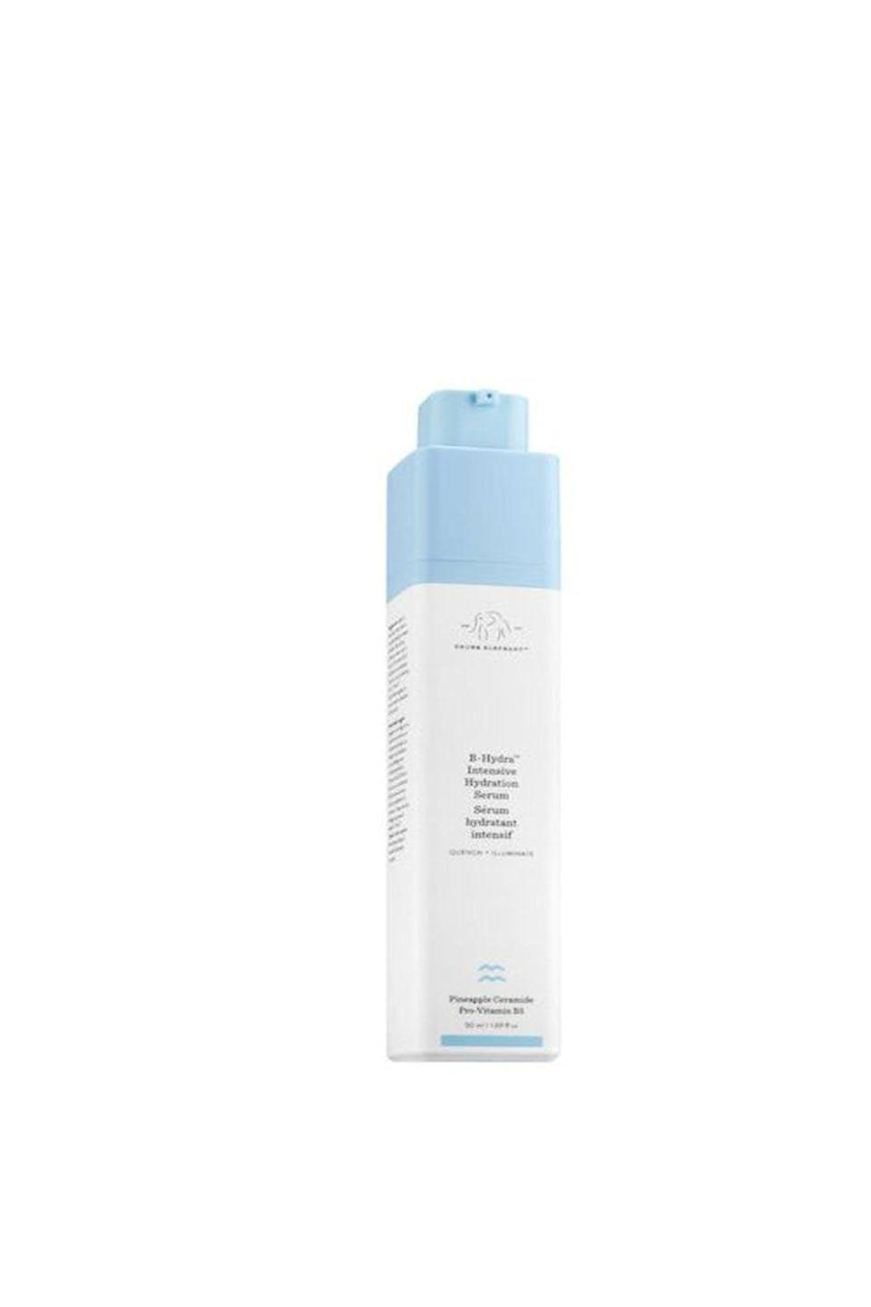 """<p><strong>Drunk Elephant</strong></p><p>sephora.com</p><p><strong>$48.00</strong></p><p><a href=""""https://go.redirectingat.com?id=74968X1596630&url=https%3A%2F%2Fwww.sephora.com%2Fproduct%2Fb-hydra-intensive-hydration-gel-P406712&sref=https%3A%2F%2Fwww.oprahdaily.com%2Fbeauty%2Fskin-makeup%2Fg27529759%2Fbest-hyaluronic-acid-serum%2F"""" rel=""""nofollow noopener"""" target=""""_blank"""" data-ylk=""""slk:SHOP NOW"""" class=""""link rapid-noclick-resp"""">SHOP NOW</a></p><p>This product contains a water-soluble, salt form of hyaluronic acid for the face, which reduces the appearance of fine lines and promotes firmness. """"It also includes vitamin B5 and pineapple ceramides to improve the skin's barrier, while improving luminosity, texture and tone of the skin,"""" says Batra.</p>"""