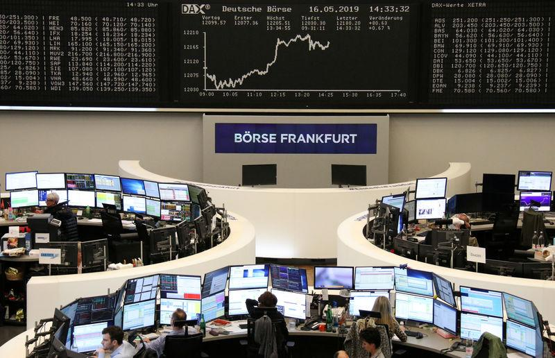 The German share price index DAX graph is pictured at the stock exchange in Frankfurt, Germany, May 16, 2019. REUTERS/Staff