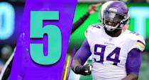 <p>Only quarterbacks or record-breaking running backs win MVPs in today's NFL, but if someone outside of that group was going to make a run, it might be Vikings receiver Adam Thielen. He's been the best receiver in the NFL so far this season and it's really not close. (Jaleel Johnson) </p>