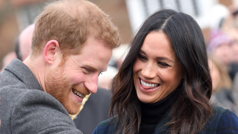 Prince Harry and Meghan Markle pictured in Scotland